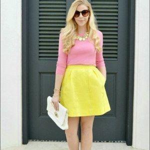 J Crew Yellow skirt size 0
